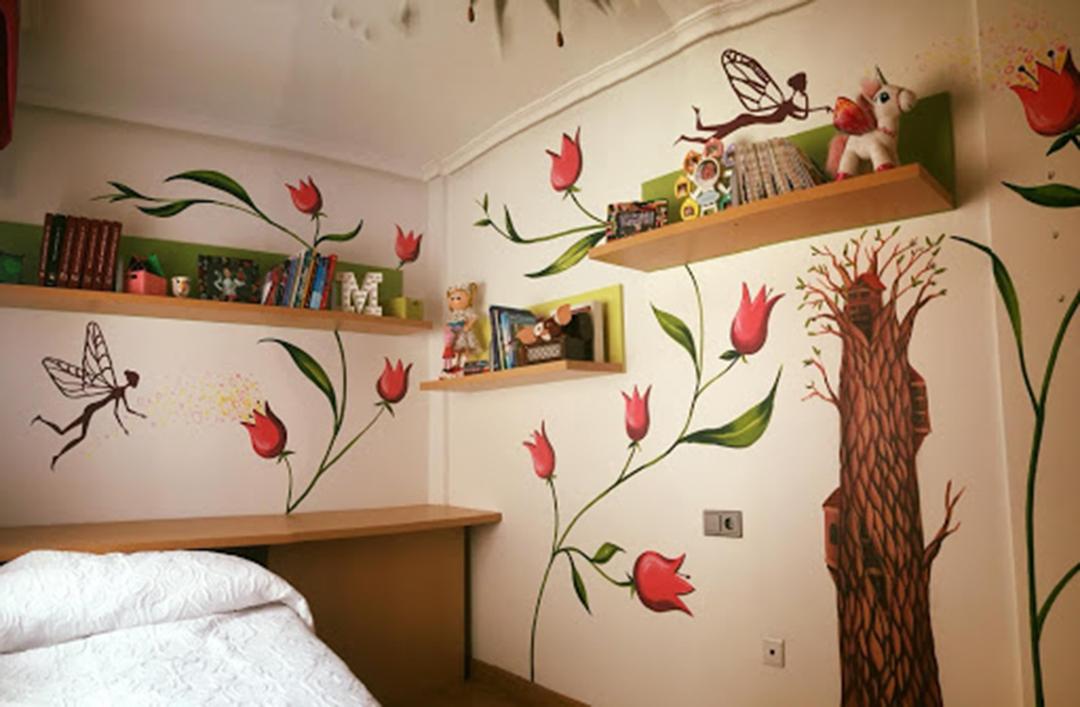 pintura mural en habitacion infantil