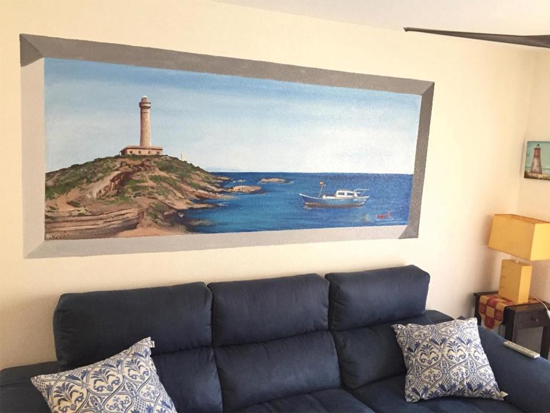 pintura mural taruga creaciones en salon