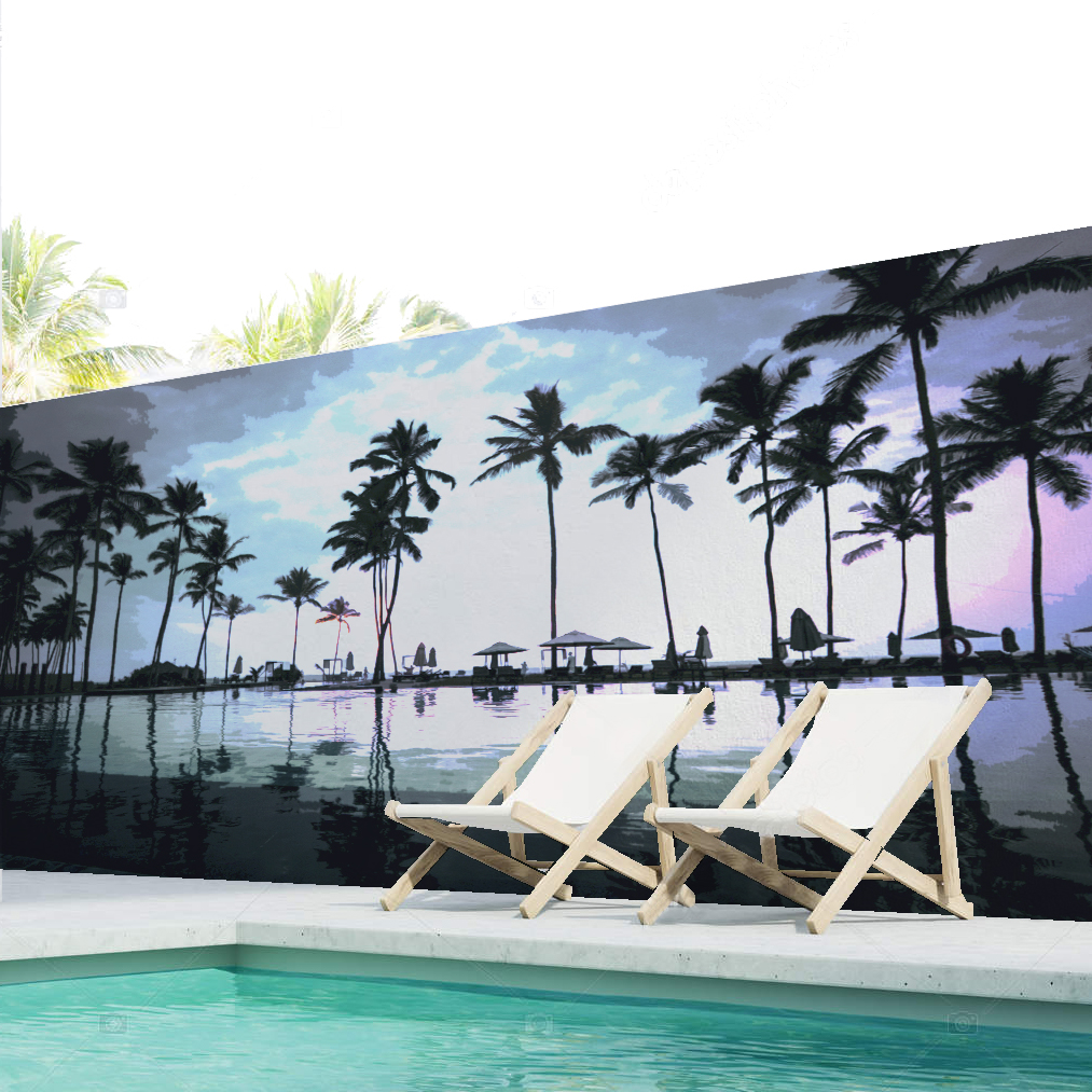 mural piscina chill out