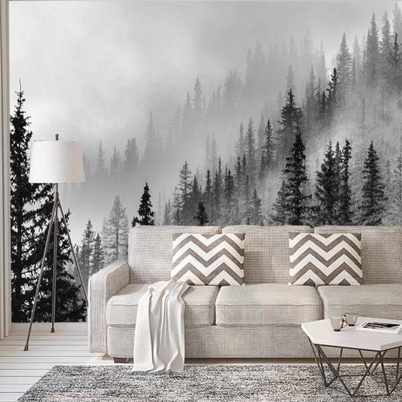 mural blanco y negro