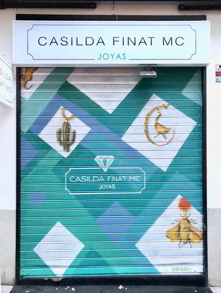 mural tienda Casilda Finat