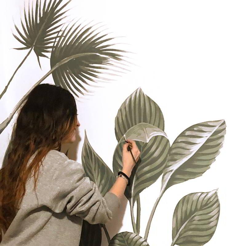 pintar un mural con Taruga