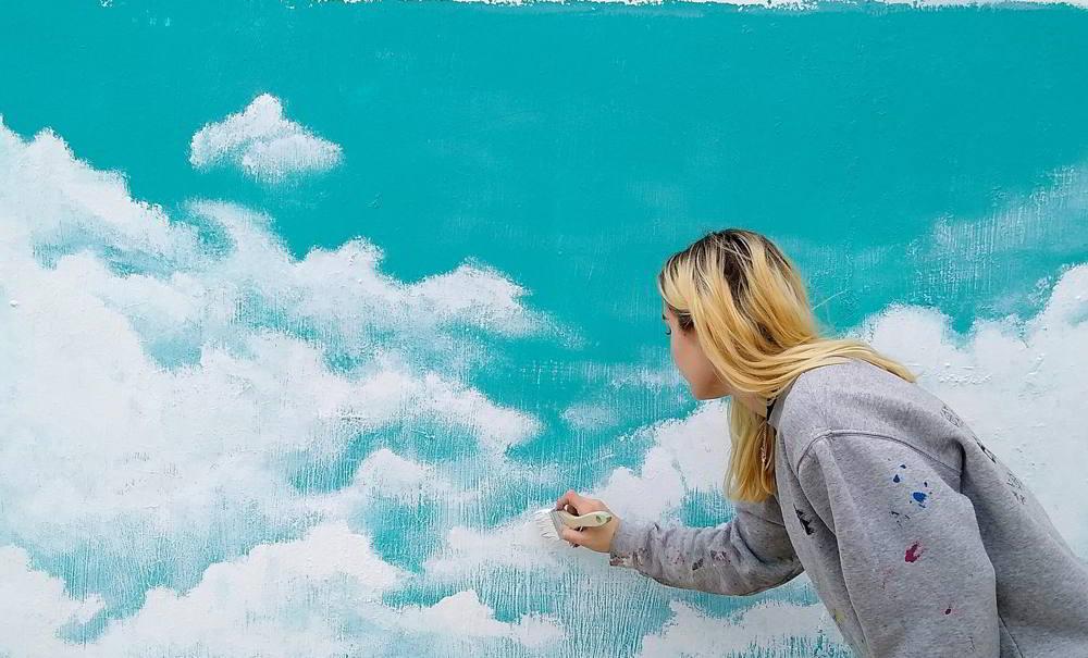 pintar nubes