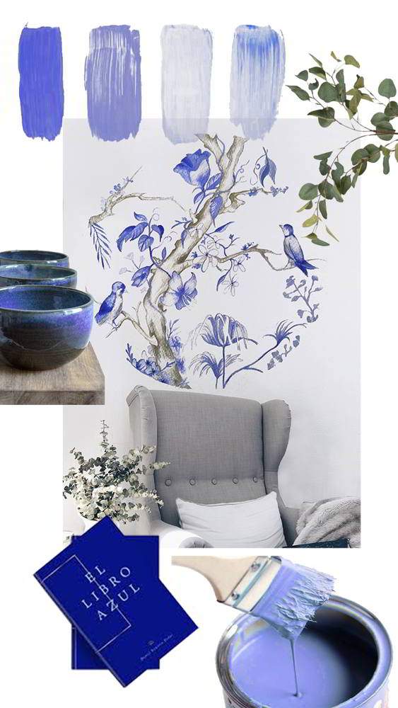 collage murales estilo cobalto