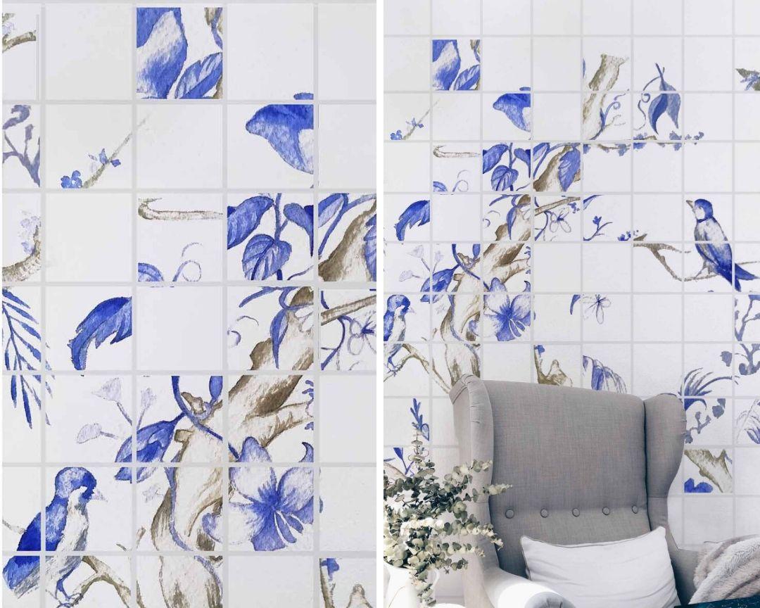 cobalto azores azulejos collage