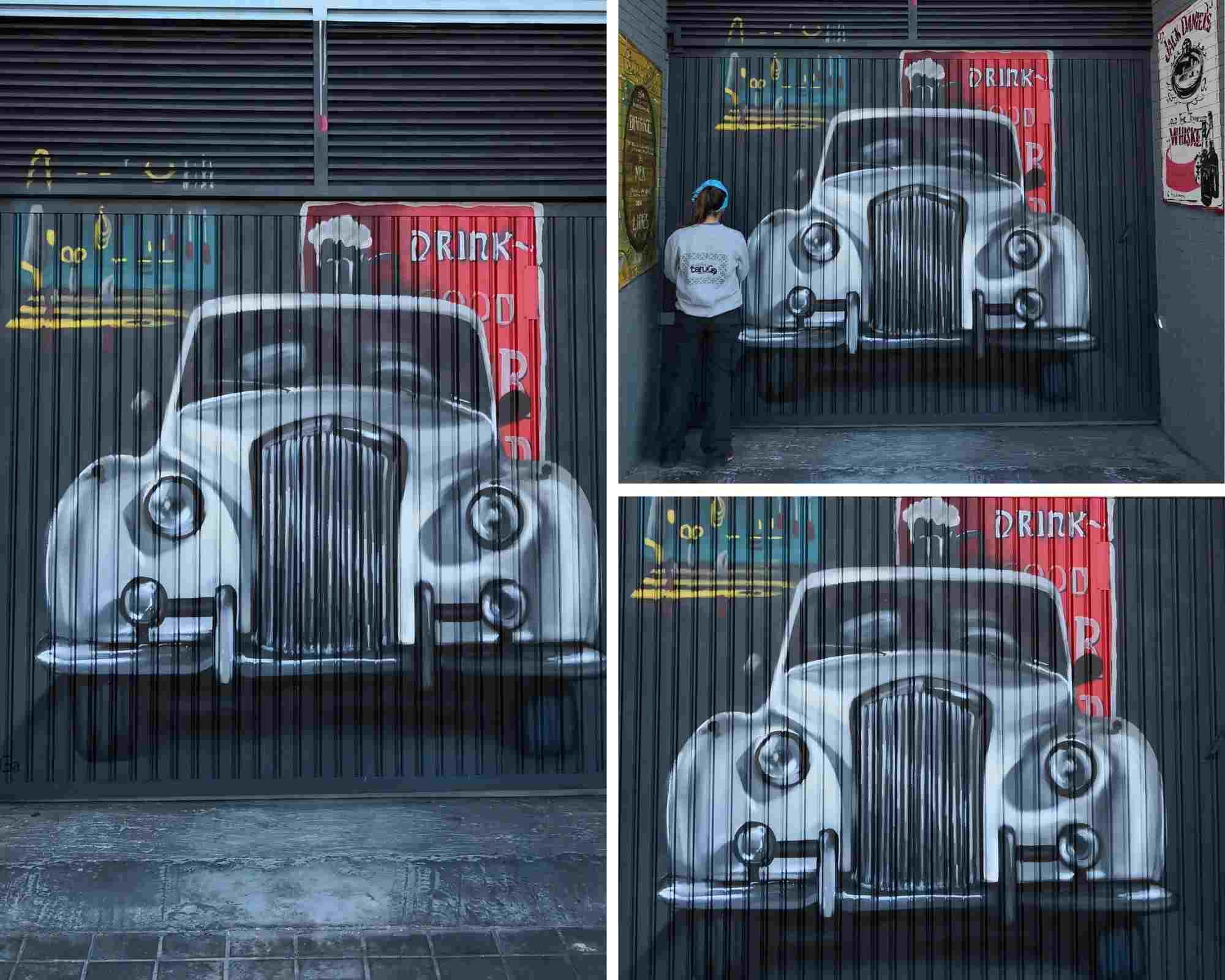 coche vintage cochera
