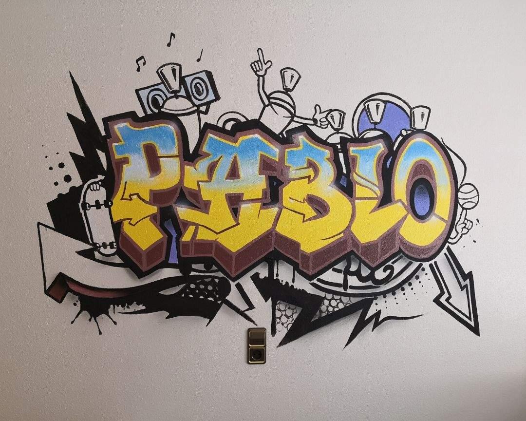 graffiti habitacion juvenil