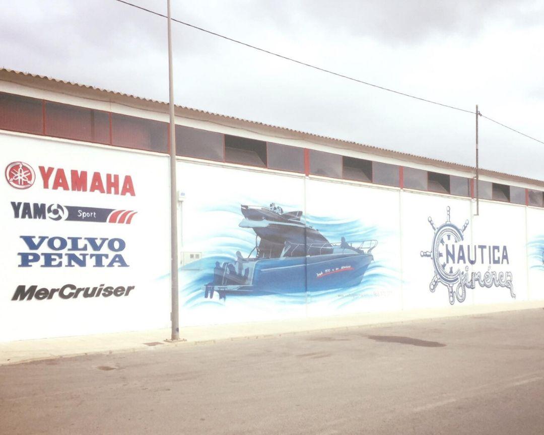 mural fachada nave nautica