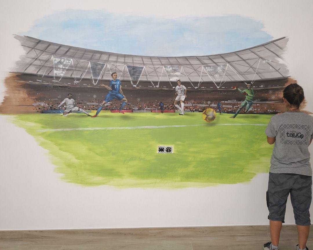 mural infantil futbol
