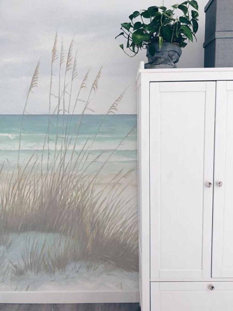 mural paisaje duna y mar