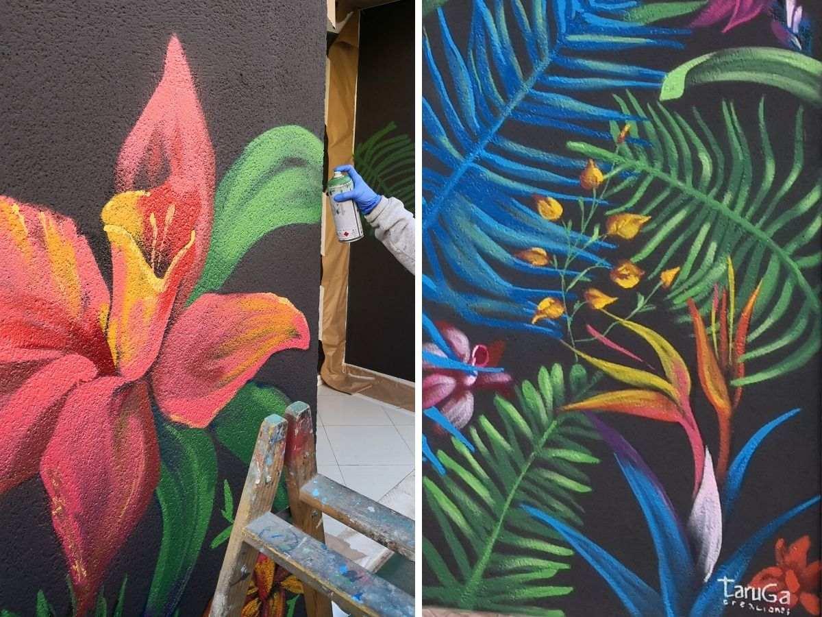 mural proceso negocio exterior vegetacion
