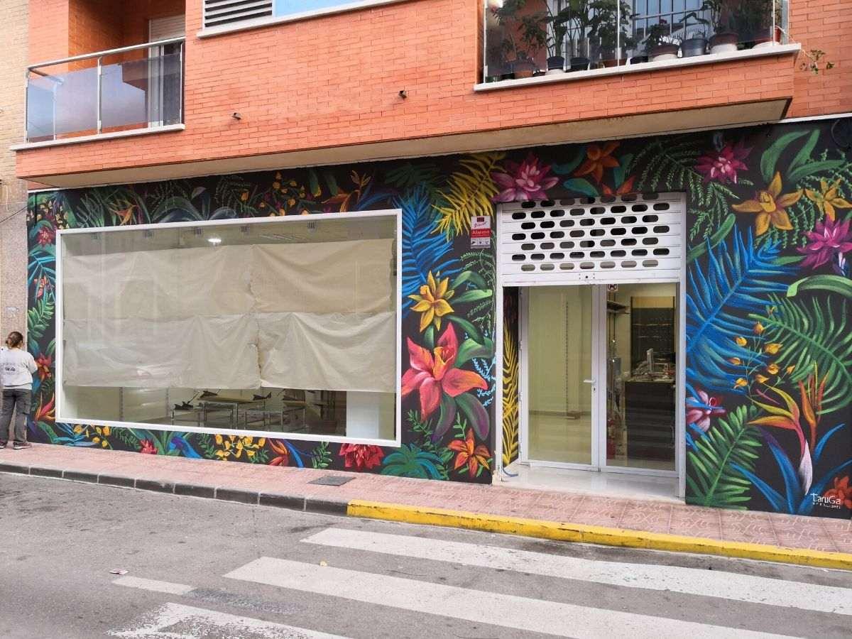 mural proceso negocio exterior vegetacion_