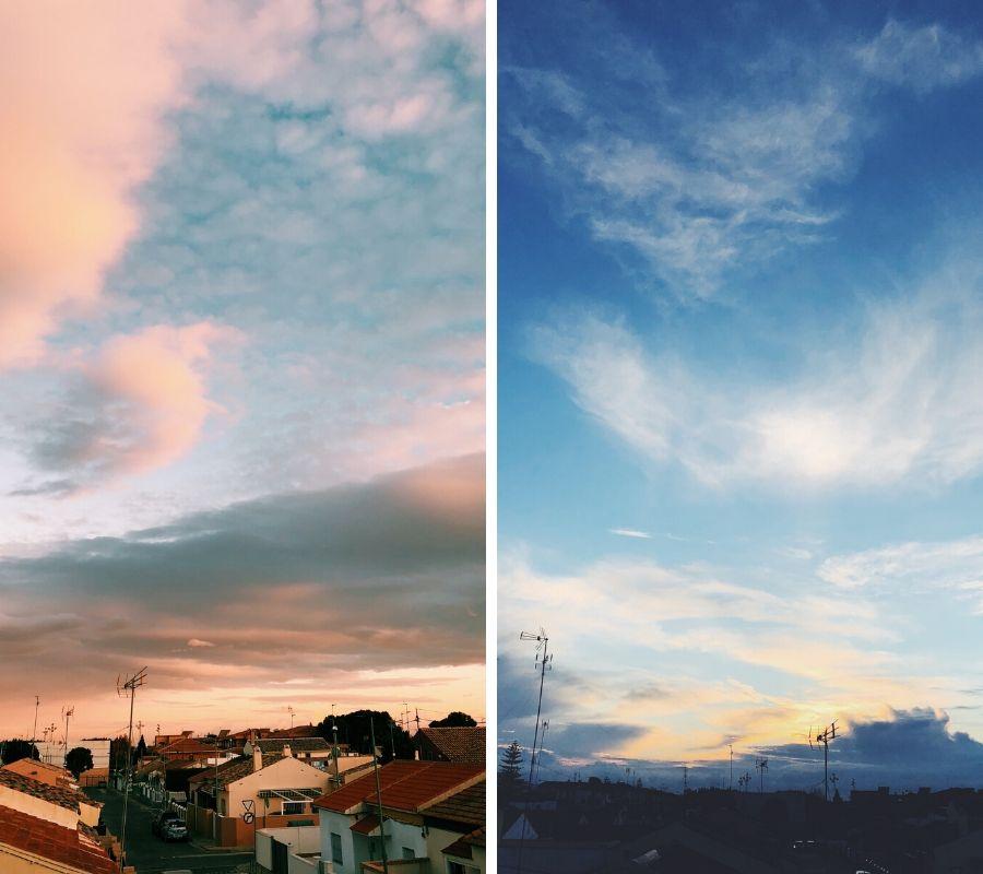 paisaje cielo atardecer