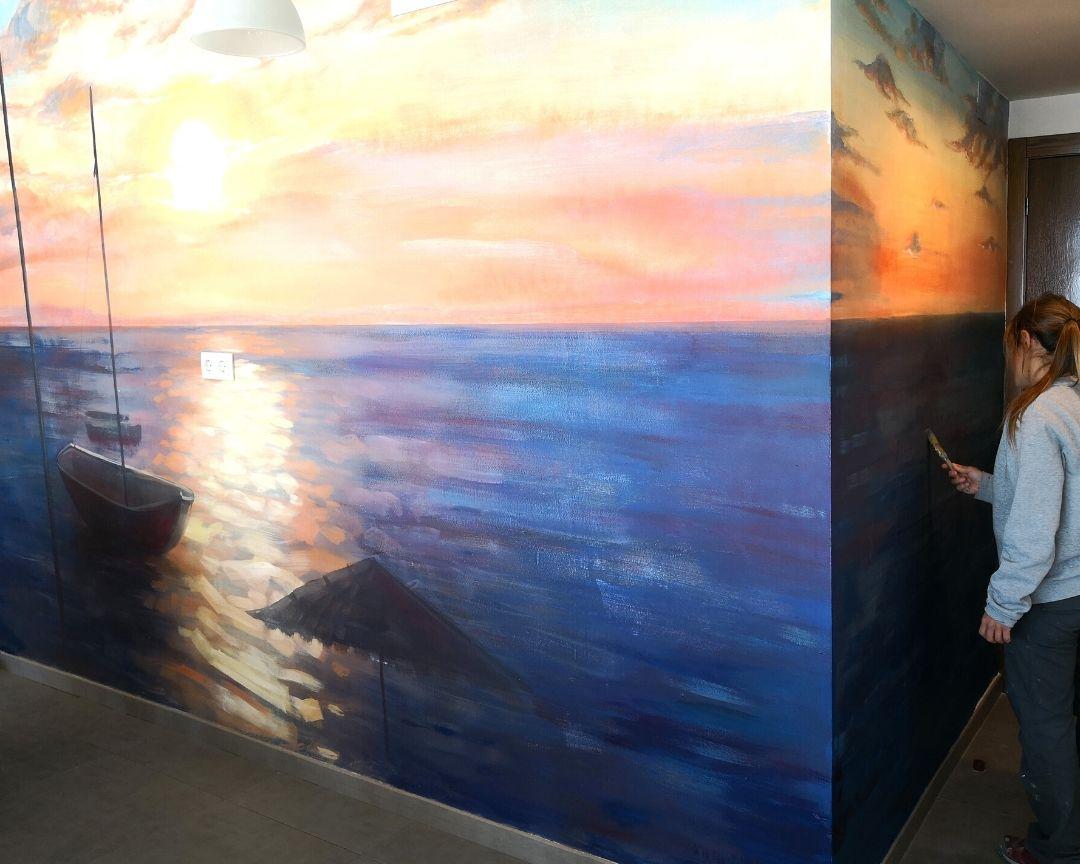 paisaje mar barca