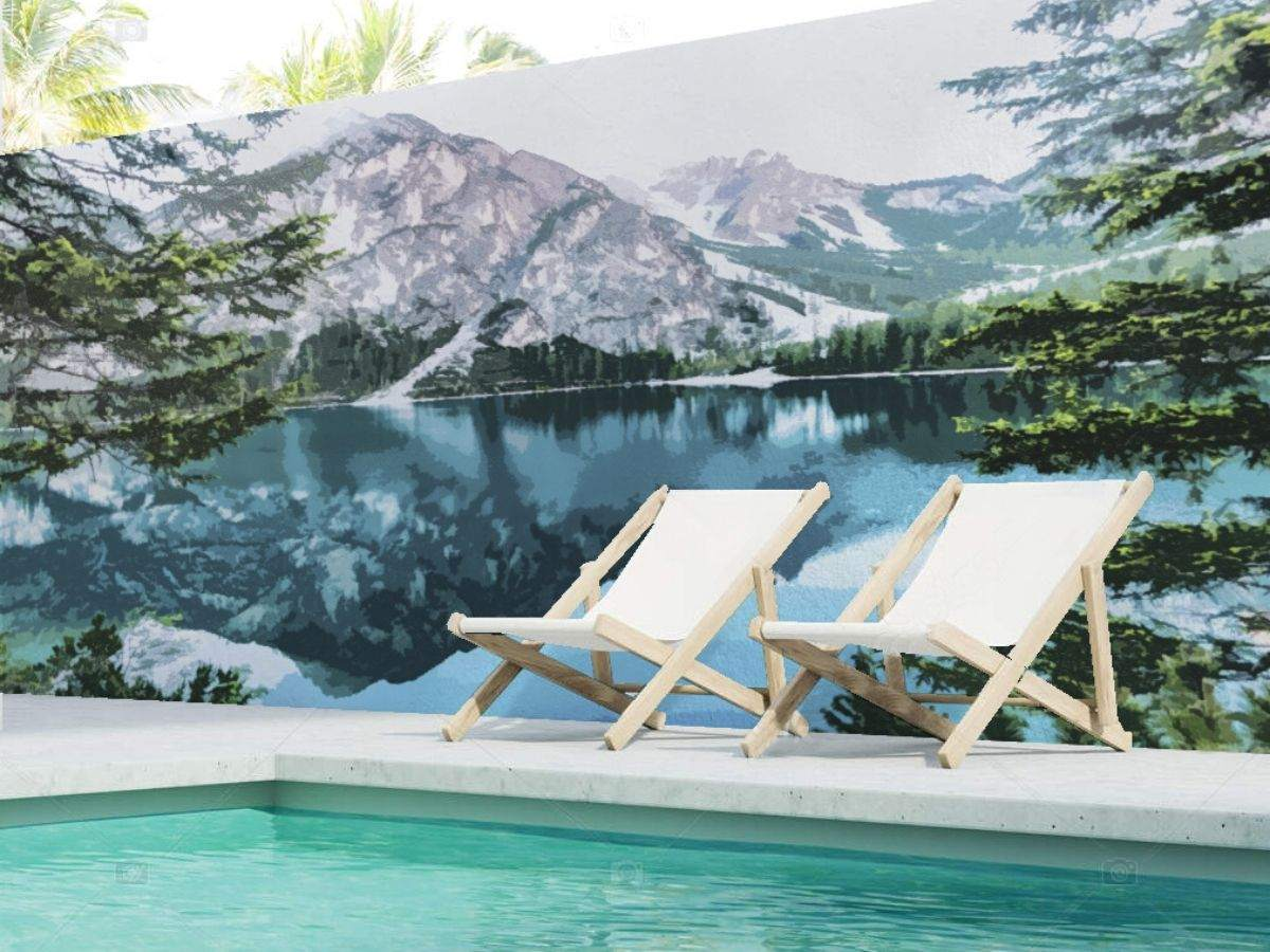 paisaje playa y agua para piscina