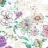 Mural-infantil-con-flores-de-colores-taruga-creaciones